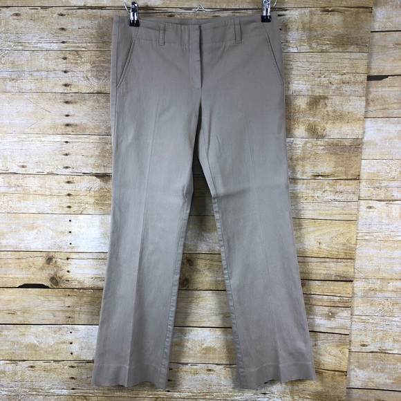 Theory Pants - Theory Stripped Textured Khaki Bootcut Pants Sz 4